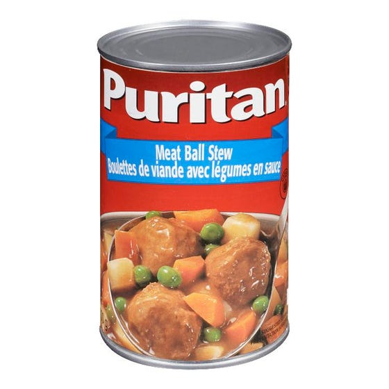 Puritan Ragoût Boulettes Viande avec Légumes en Sauce 700G