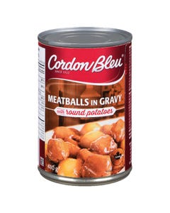 Cordon Bleu Meatballs in Gravy with Round Potatoes 410G