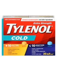 Tylenol Extra Strength Cold Day & Night Tablets 20ct