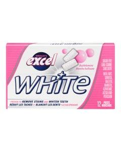 Excel White Bubblemint Gum 12CT