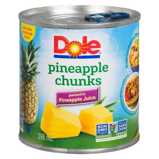 Dole Pineapple Chunks 398ml
