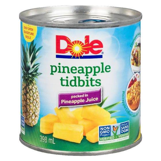 Dole Pineapple Tidbits 398ML