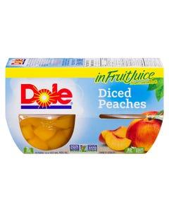 Dole Fruit Bowls Diced Peaches 4X107ML