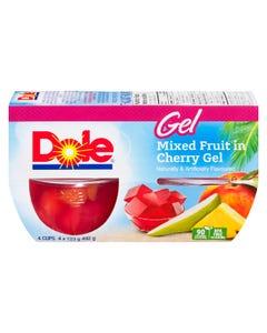 Dole Gel Mixed Fruit in Cherry Gel 4X123G