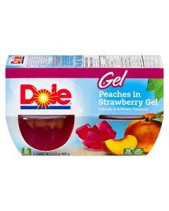 Dole Gel Peaches in Strawberry Gel 4X123G