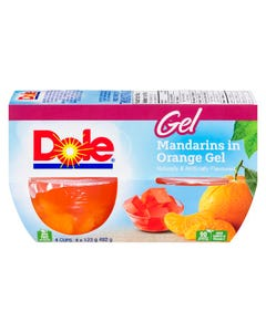 Dole Gel Mandarins in Orange Gel 4X123G