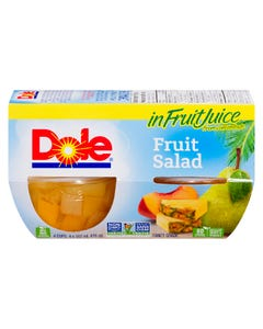 Dole Fruit Bowls Fruit Salad 4x107ML