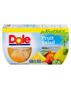 Dole Fruit Bowls Fruit Salad with Extra Cherries 4X107ML