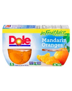 Dole Fruit Bowls Mandarin 4x107ML