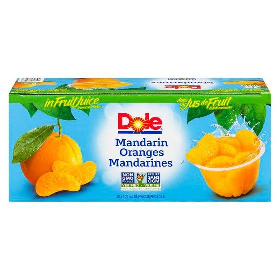 Dole Fruit Bowl Mandarin Oranges 20x107ml