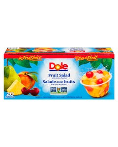 Dole Fruit Salad Bowl in Fruit Juice Extra Cherries 20x107ml