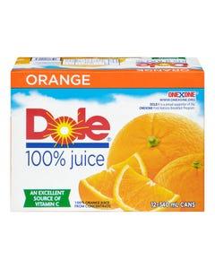 Dole 100% Orange Juice Cans 12X340ML