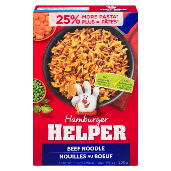 Hamburger Helper Nouilles Au Bœuf 200G