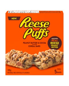 Reese Puffs Cereal Bars 5CT 120G