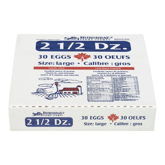 Burnbrae Farms Large Eggs 2.5 Dozen