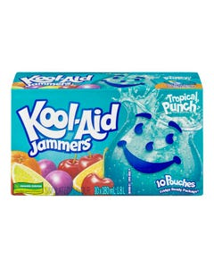 Kool-Aid Jammers Punch Tropical 10X180Ml