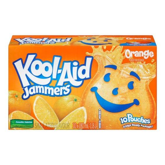 Kool Aid Orange Jammers 10x180ML
