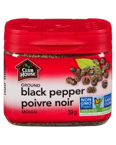 Club House Ground Black Pepper Tin 39g