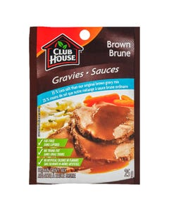 Club House Brown Gravy Mix 25% Less Salt 25G