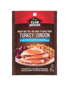 Club House Turkey 25% Less Salt Gravy Mix 25G