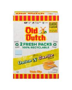 Old Dutch Potato Chips Box Onion And Garlic 220G