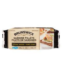 Brunswick Sardine Fillets Golden Smoked 92G