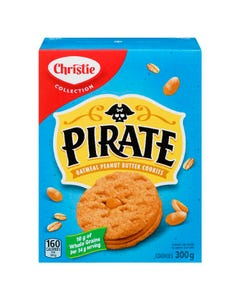 Christie Biscuit Pirate Avoine et Beurre d'Arachide 300G