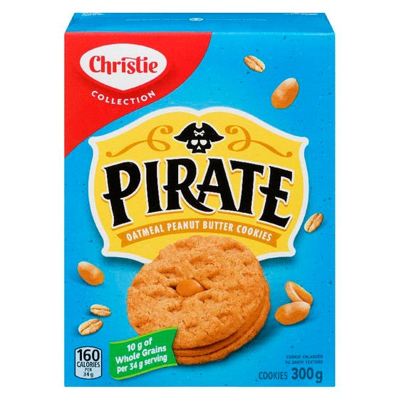 Christie Pirate Oatmeal Peanut Butter Cookies 300g