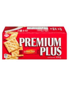 Premium Plus Crackers Salted Tops 450G