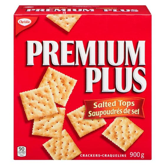 Premium Plus Crackers Salted Tops 900g