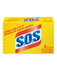 S.O.S Steel Wool Soap Pads 4CT