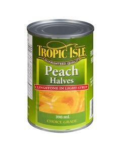 Tropic Isle Peach Halves 398ML