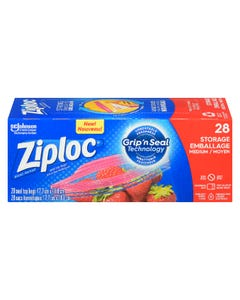 Ziploc Storage Bags Medium 28CT