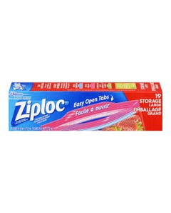 Ziploc Storage Bags Large 19CT