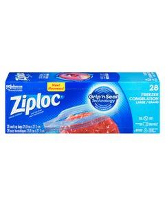 Ziploc Large Freezer Bags 28CT