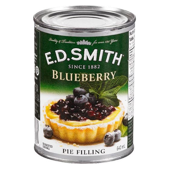 E D Smith Garniture Tarte Bleuet 540ML