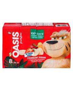 Oasis FruitZoo Strawberry Banana Juice 8X200ML