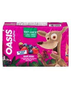 Oasis FruitZoo Grape Berry Juice 8X200ML