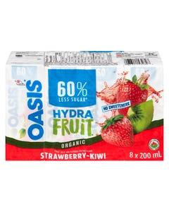 Oasis HydraFruit Strawberry-Kiwi Fruit Juice 8X200ML
