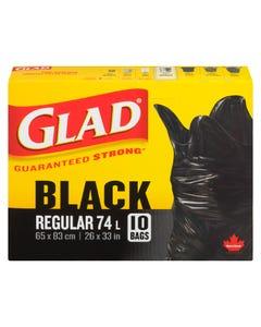 Glad Garbage Bags Regular 74L 10CT