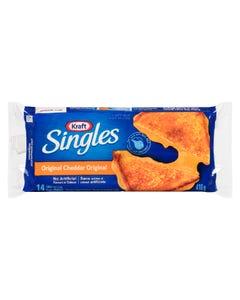 Kraft Singles Original Cheddar Thick Slices 14CT 410G