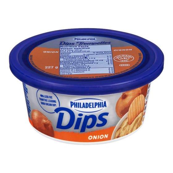 Philadelphia Cream Cheese Dips Onion 227g