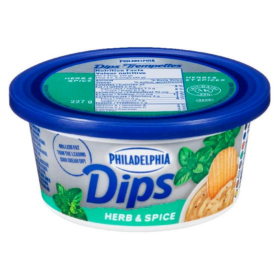 Philadelphia Cream Cheese Dips Herb & Spice 227g