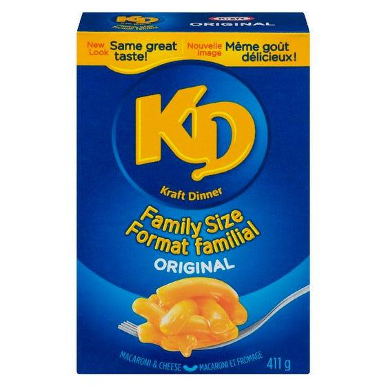 Kraft Dinner Macaroni et Fromage Original Familial 411G