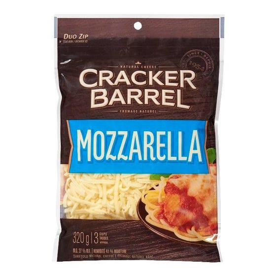 Cracker Barrel Fromage Râpé Mozzarella 320G
