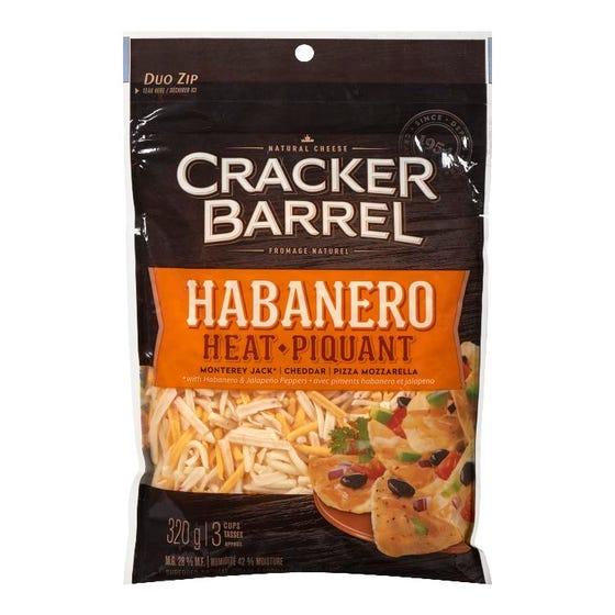 Cracker Barrel Fromage Râpé Habanero Piquant 320G
