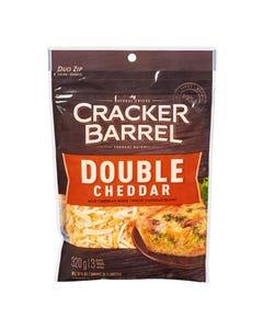 Kraft Cracker Barrel Shredded Cheese Double Cheddar 320g