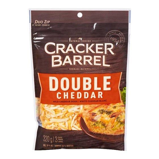 Cracker Barrel Fromage Râpé Double Cheddar 320G