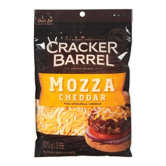 Cracker Barrel Fromage Râpé Mozza Cheddar 320G