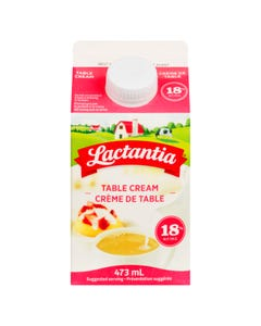 Lactantia Table Cream 18% 473ml
